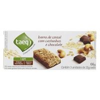 Barra de cereal light de castanha com chocolate Taeq 66g