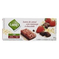 Barra de cereal light de morango com chocolate Taeq 66g